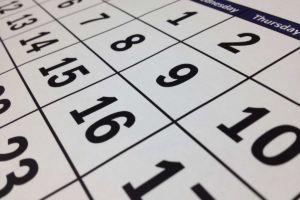 Foto di un calendario