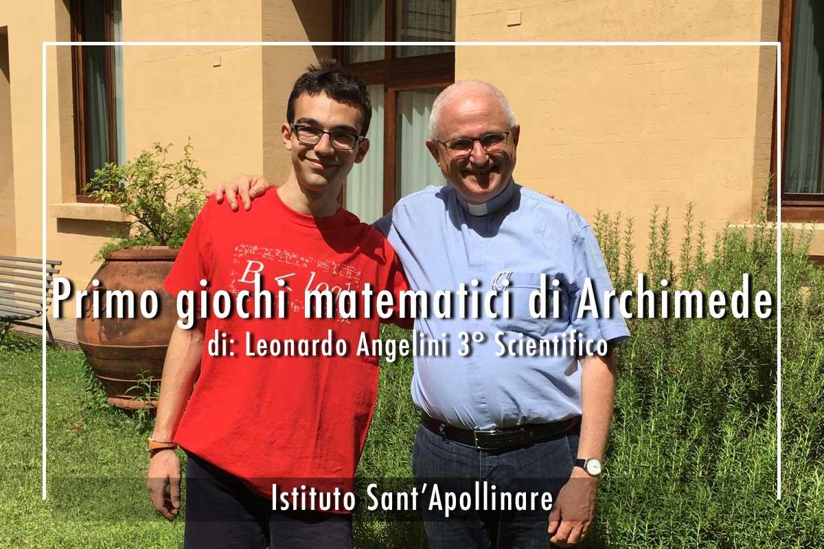 Leonardo-Angelini vincitore gare Pristem e Kangourou