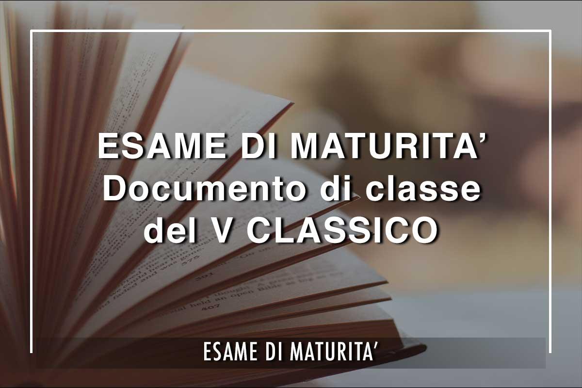 Maturità del V Classico, i cui 23 studenti sosterrannol'Esame di Maturità