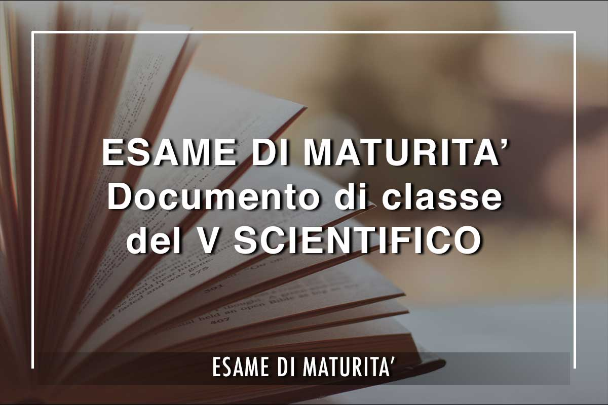 Esami di Maturità V Scientifico