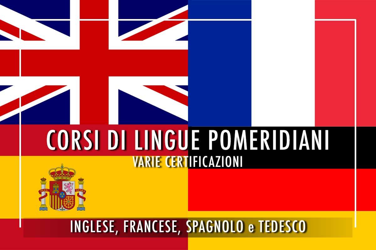 Corsi di lingue pomeridiani inglese francese spagnolo tedesco viale Vaticano 42